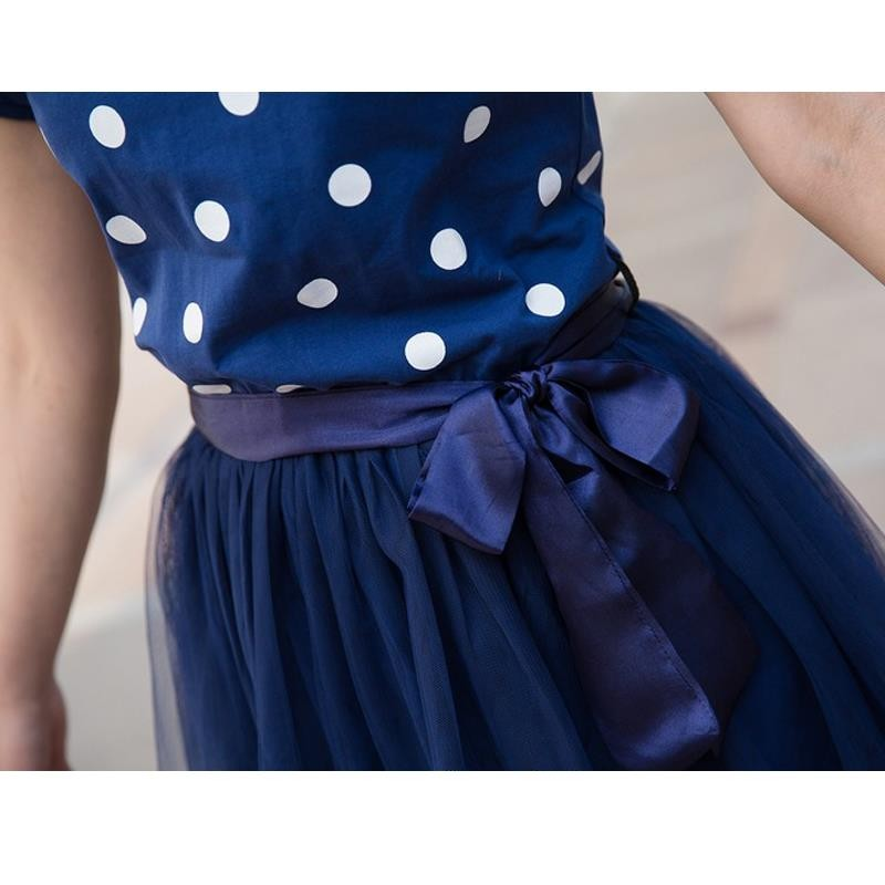 Mom-and-Daughter-Dress-New-2016-Mother-Daughter-Dresses-Fashion-Blue-Dot-Mother-and-Daughter-Clothes (1)