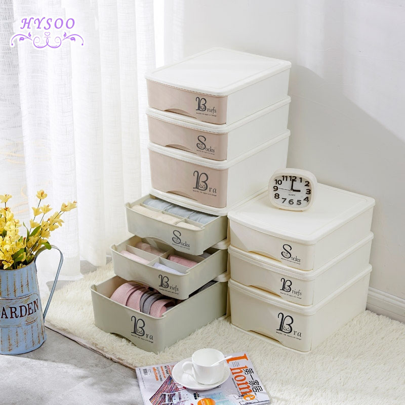 Drawer style luggage underwear storage box wardrobe socks finishing box plastic bra underwear storage box
