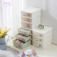 Drawer style luggage underwear storage box wardrobe socks finishing box plastic bra underwear storage box