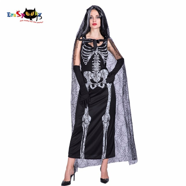 Women Sexy Spider Web Costume Adult Skeleton Witch Vampire Ghost Cosplay  Party Fancy Dress Female Adult Halloween Costumes 5c7c79be9da6