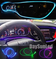 2016 Hot Car Atomosphere Light Easy DIY Set 2pcs Light Holder 1 Meter Side Glow Optic