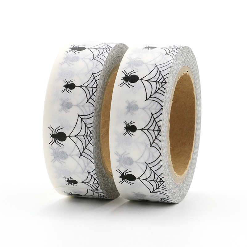 1X Spider Web Halloween 2018 Washi Tape Set Card making stationery in Office Adhesive Tape from Office School Supplies