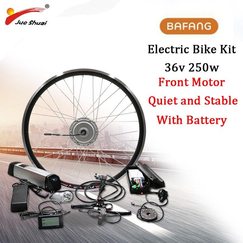 Bafang 36 V 250 W Elektrische Fahrrad Getriebe Bürstenlosen Hub Motor Vorderrad Conversion Kit 36 V 12Ah e Fahrrad batterie Gebaut Samsung Zelle