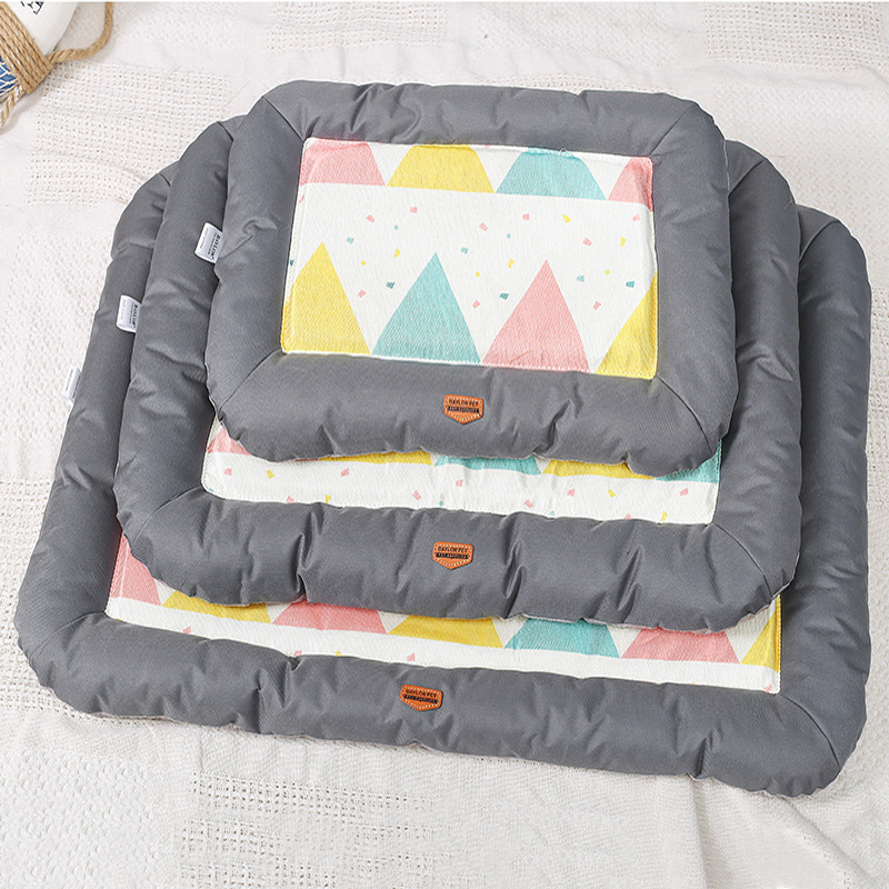 New Summer Cooling Dog Mat Crates And Beds Comfortable Linen Pet Mat For Keeping Cool Cat Dog Pad For Kennels