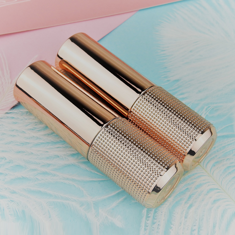 10/30/50pcs 12.1mm DIY Intensive Point Rose Gold Lipstick Tube,Top Quality Round Lip Balm Tube,Empty Cosmetic Container 12 1mm 50pcs new arrival empty pink lipstick tube high quality plastic diamond lipstick container cylindric lip balm container