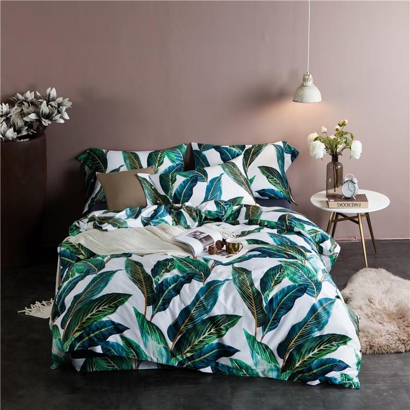 Pronovias 60s egyptian cotton coco tree king queen size countryside bedding set