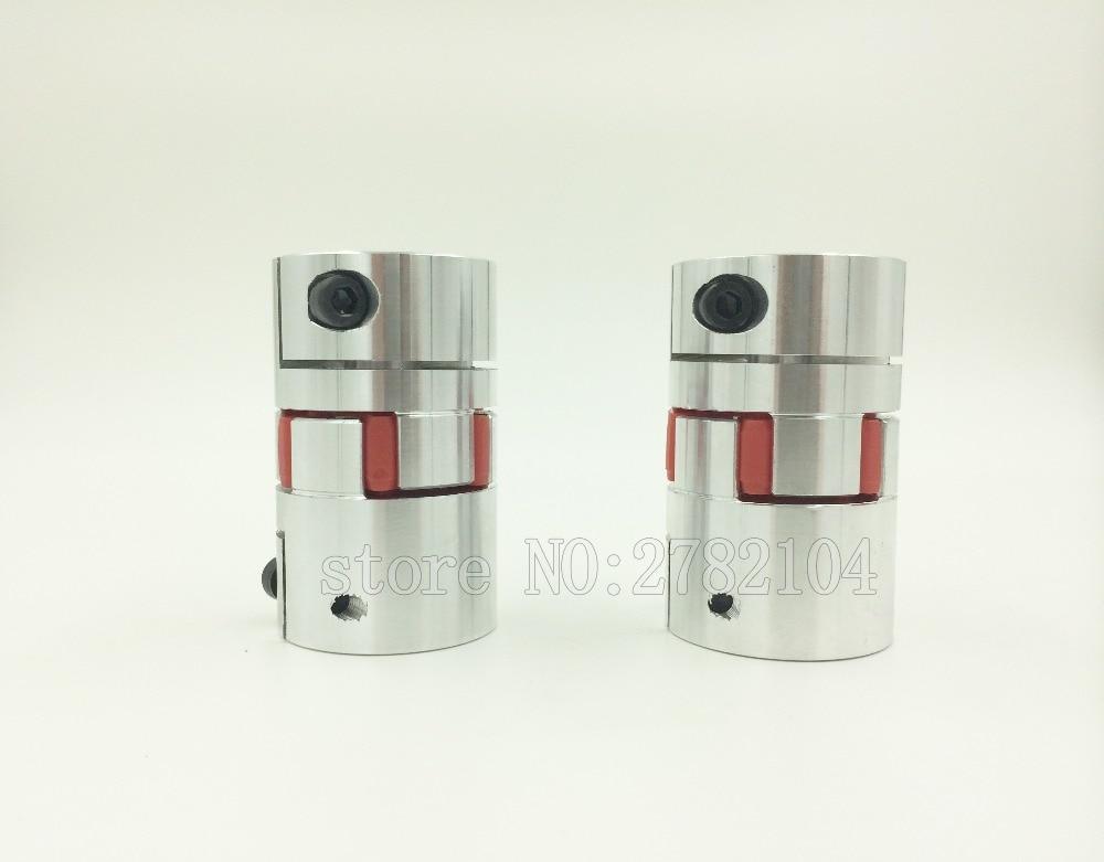цена на Free shipping 4Pcs8*14mm 5/6/6.35/7/8/9/9.5/10/12/12.7/14/15mm Flexible Plum Shaft Coupling CNC Stepper Motor Coupler D30L42