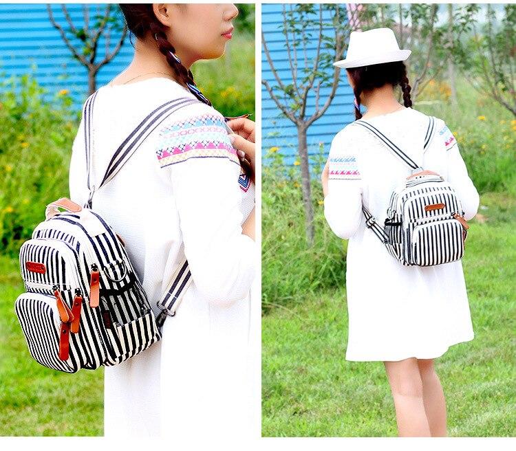 Fashipn Women Small Backpack Ladies Bags,Multi-pocketed Waterproof traveling bag,Mother Bag Baby Nappy Bags,sac de rangement