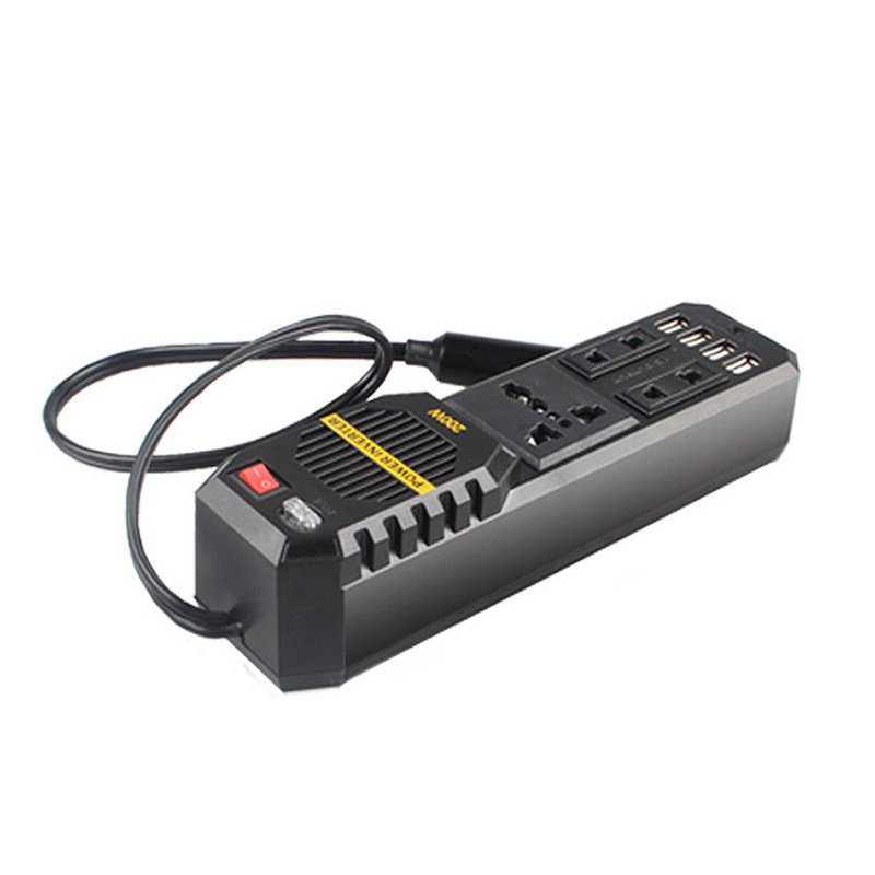 Car Power Converter 12 To 220V 300W Inverter 50Hz 300W Peak Power 2 USB Port Protections Voltage 220 Auto USB Universal Socket 20etf12 to 220 2