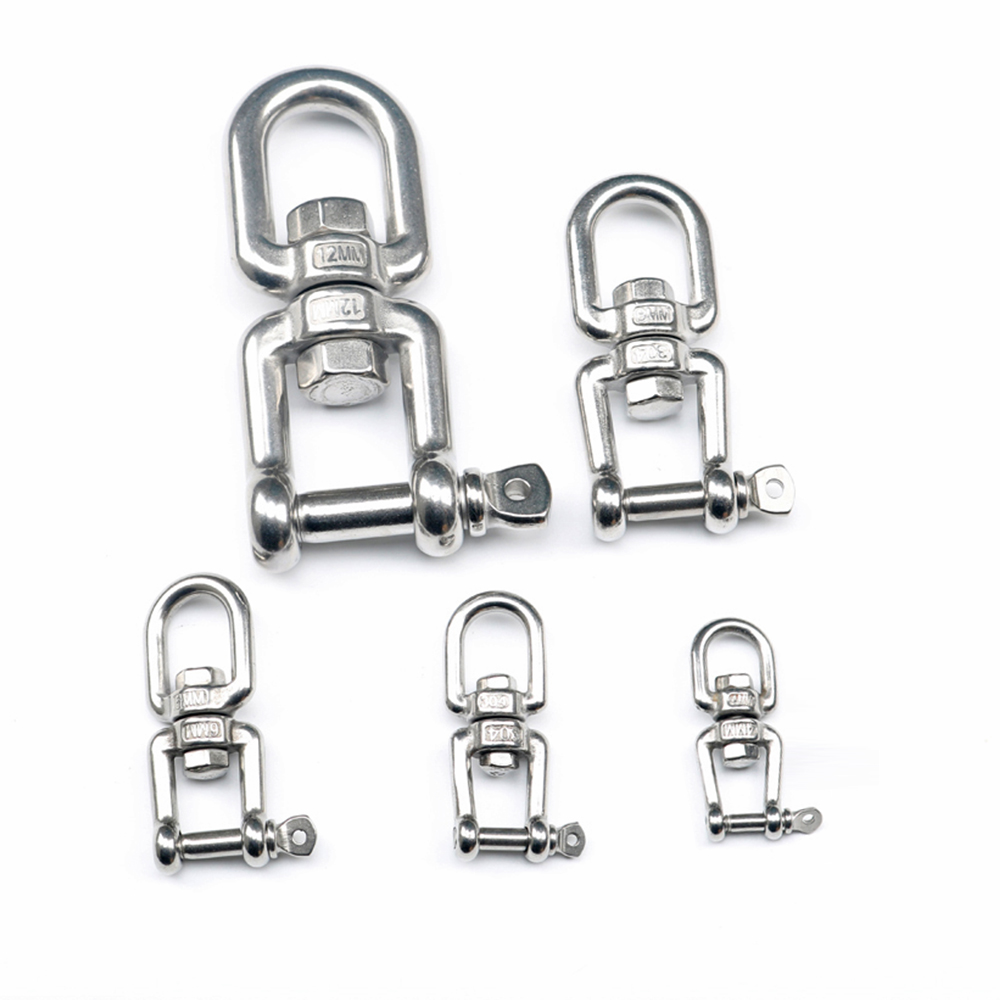 Image 5 - HCSSZP Rotation Quick Hook Buckle Shackle for Outdoor Rock Climbing Hiking 304 Stainless Steel Swivel Rotating Carabiner-in Marine Hardware from Automobiles & Motorcycles