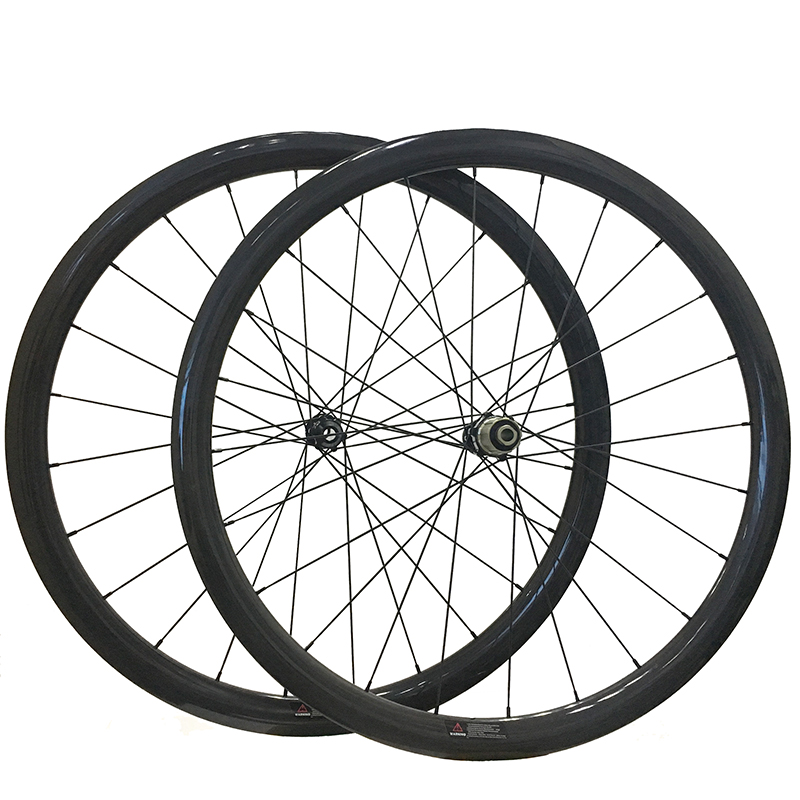 35 38 50mm Disc Brake Full Carbon Wheels Cyclocross Bike Wheel Clincher Tubular Novatec 791 792