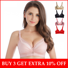 a35f3d34d898b Push Up Bra For Small Breasts Wire Free Thick Cup Lingerie Femme Add One Cup  Women