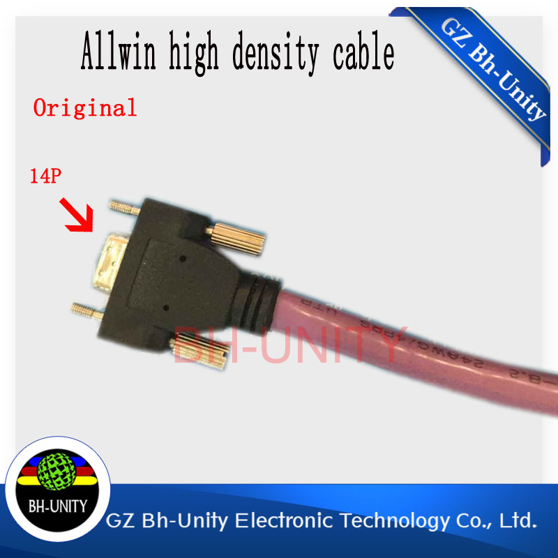 Best quality!!inkjet printer spare parts of 14pin 6m length high-density cable for allwin yaselan gongzheng printer 14pins data cable 6 meters wide format printer cable for allwin human inkjet printer konica km512 42pl spare parts