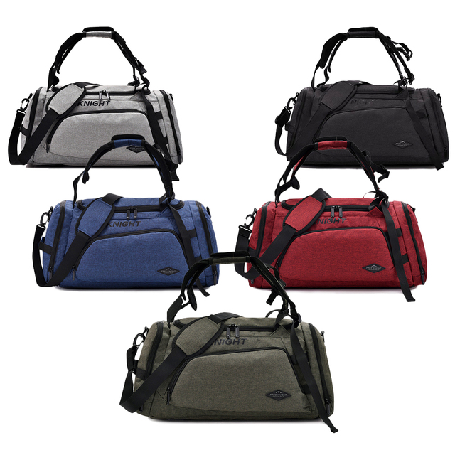 ce3d87ec430 US $24.99 47% OFF|Free Knight Multifunctional Sports Gym Bag with Shoes  Compartment Travel Duffel Bag Backpack Men Women Fitness Bags Handbag-in  Gym ...