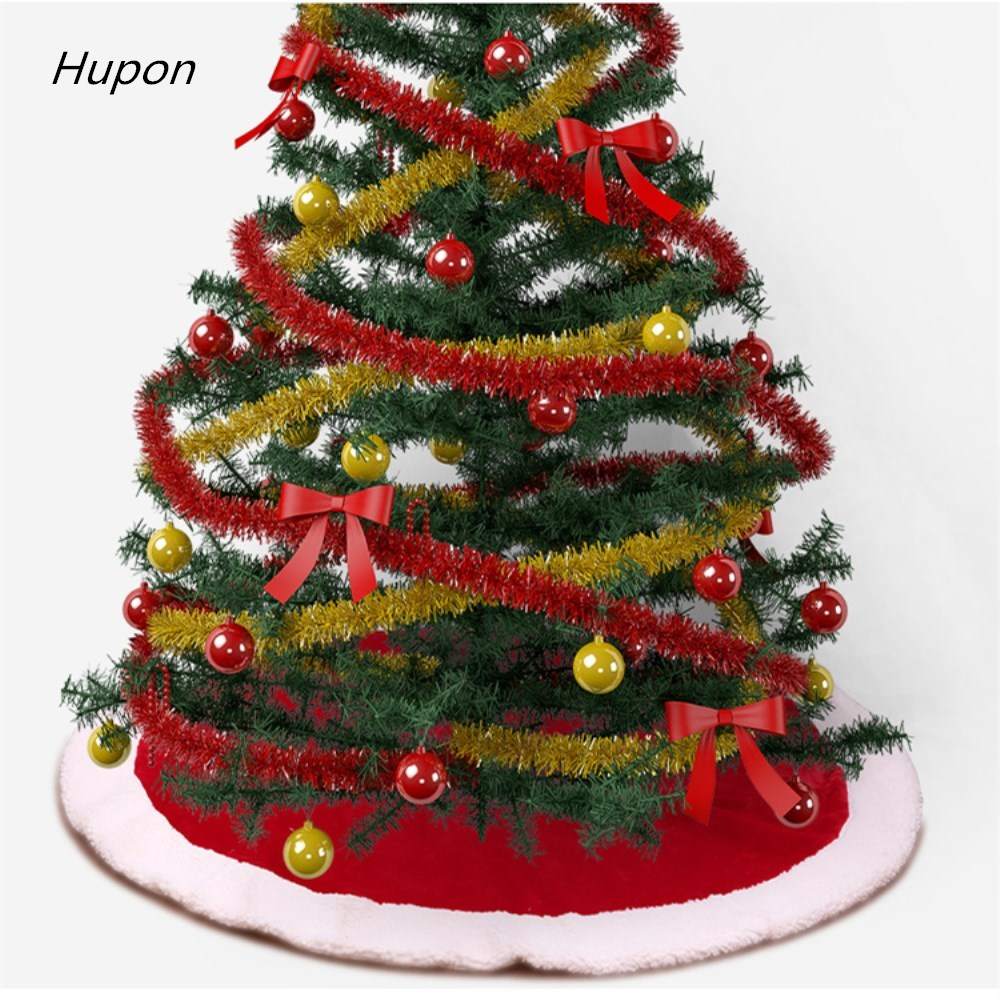 1PC Christmas Decorations For Tree Lamb Down Fabric