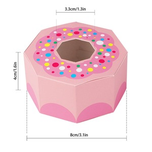 Image 5 - OurWarm 10Pcs Hexagon Donut Party Paper Candy Box for Baby Shower Gift Boxes Donut Theme Birthday Party Decorations Kids Favors