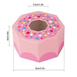 Image 5 - Ourwarm 10 個六角ドーナツパーティー紙ベビーシャワーギフトボックスドーナツテーマ誕生日パーティーの装飾好意