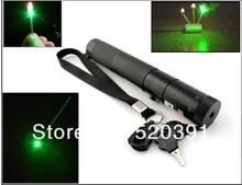 On sale AAA NEW High Power Green Laser Pointers Burn Matches Fastest 5000mw/5w 532nm Strong Power Burning Torch Pop Balloon+Changer+Box