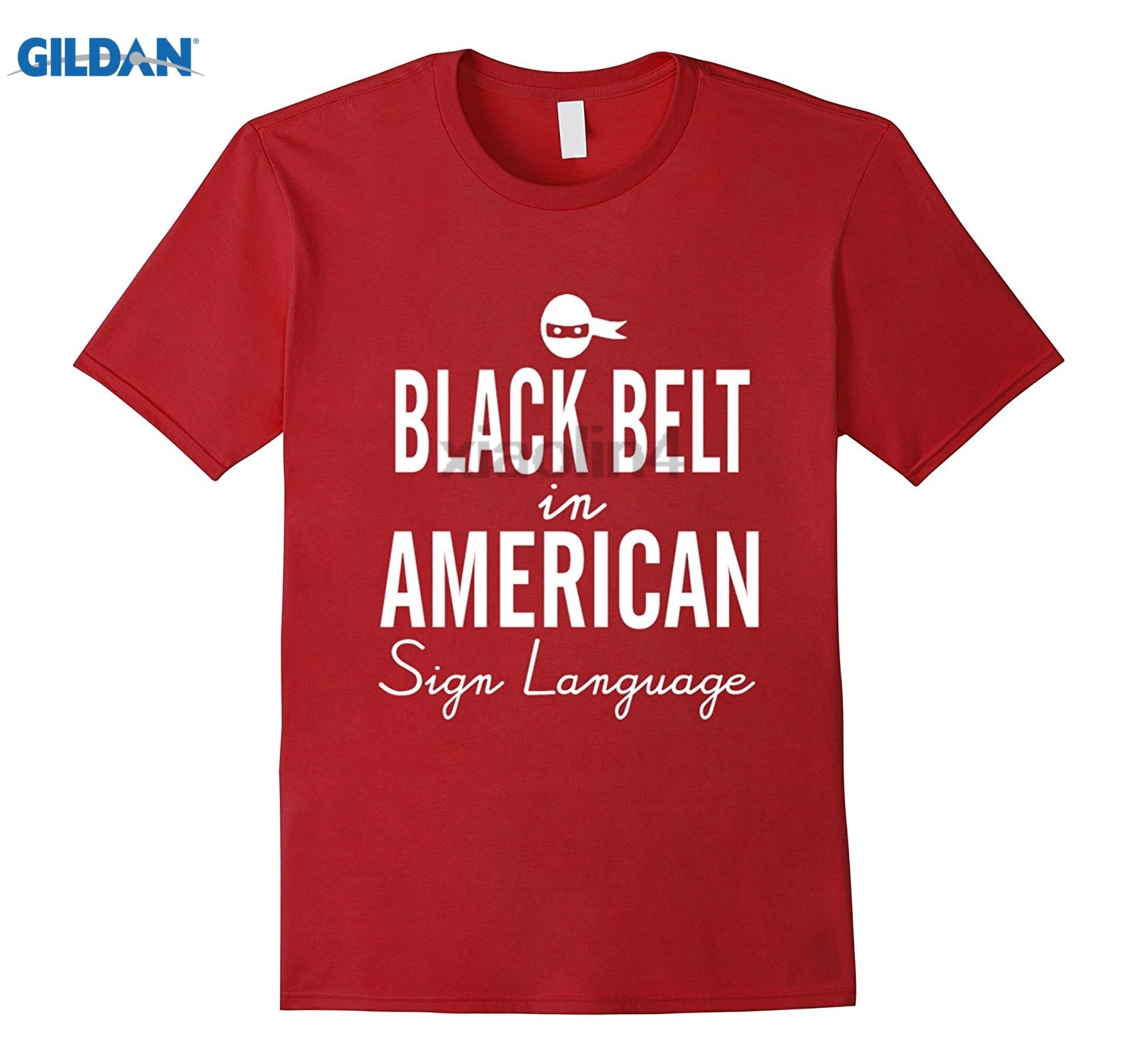 GILDAN Black Belt In American Sign Language Judo Karate T-Shirt Original design new T-shirt Dress female T-shirt