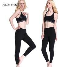 PADAUNGY Neoprene Bodyshaper Women Slimming Hot Shapers Ankle Length Tummy Control Panties Cinta Butt Pants Thick Waist Shaper