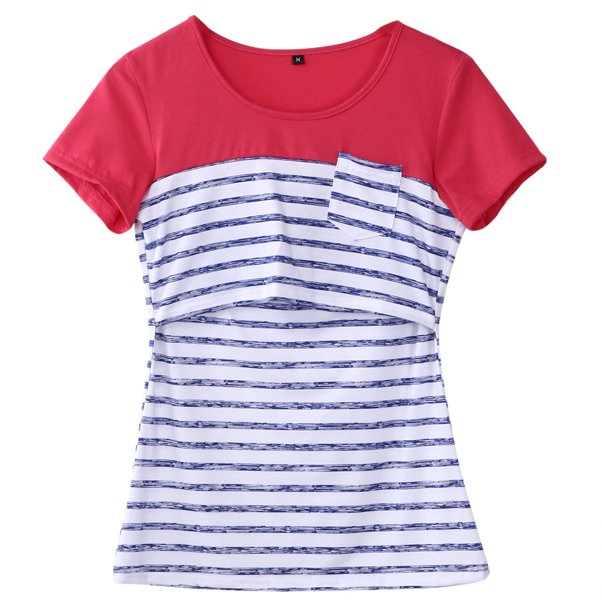 Maternity Breastfeeding Clothes Ice Silk Summer Tees Print Nursing T-shirt Top