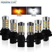 MODERN CAR S25 BA15S BAU15S 1156 T20 7440 DRL Turn Signal Light Canbus Error Free White Amber Fog Lamp LED Bulbs Turning Lights