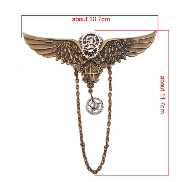 Заколка с крыльями металлическая 2
