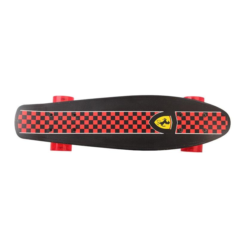 Enfant Quatre Roues Double Cruiser Planche À Roulettes flip skate board pour enfants garçon Max chargement 50 kg
