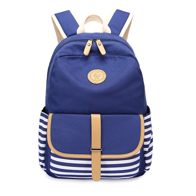 3pcs/set Canvas Fringe Women Backpack Student Book Bag with Purse Laptop Bagpack Lady School Bag for Teenager Girls 2