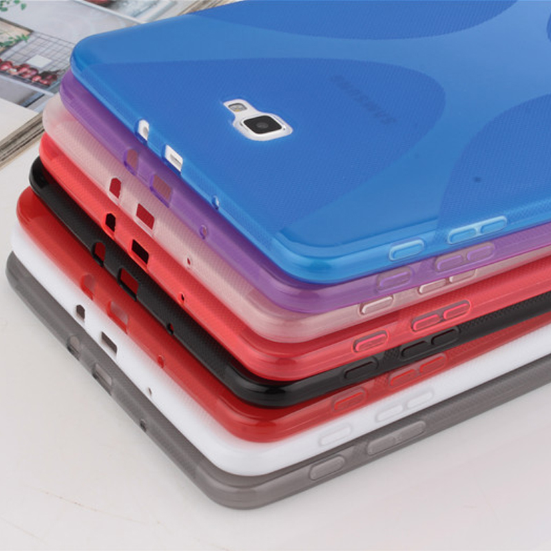 High Quality X Line Matte TPU Silicone Case Rubber Protective Shell Cover For Samsung Galaxy Tab A 10.1 2016 T580 T585 + Film new ultra slim waterproof soft silicone rubber tpu protective shell case cover for samsung galaxy tab s2 8 0 sm t710 t715 tablet