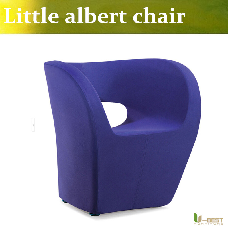 U-BEST fiberglass chair, Little albert chair by Ron Arad,North European fabric wool little albert leisure chair