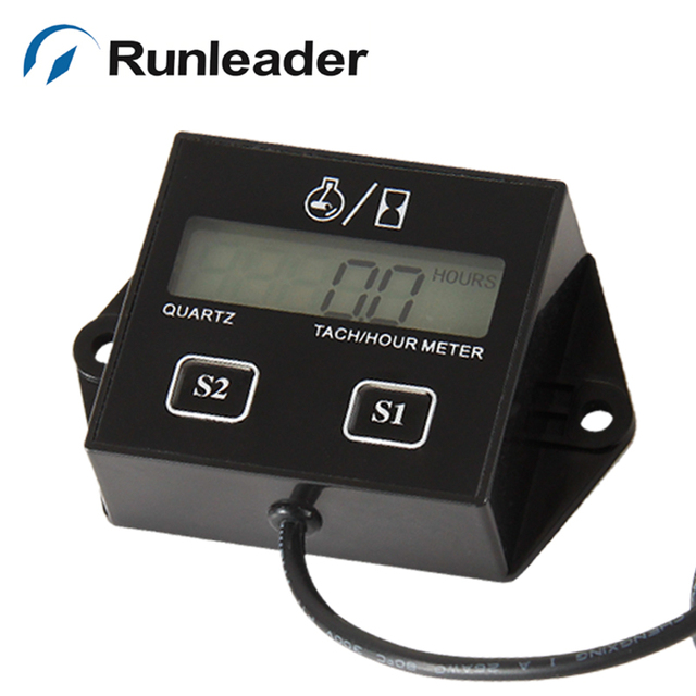 Cronómetro Tacómetro Inductivo Reajustable Motor Gasolina Digital Tacómetro de Recordatorio de Mantenimiento