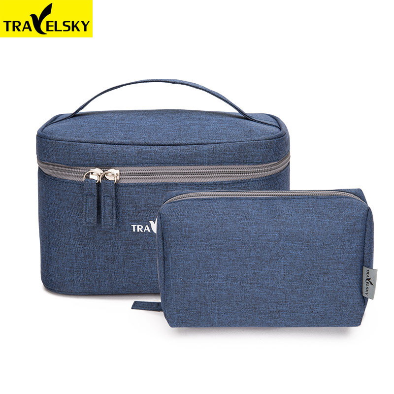 Travelsky New 2pcs/Set Travel Make Up Organizer Storage Pouch Waterproof Toiletry Bag Women Makeup Cosmetic Bags Case Handbags