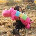 Adorável forma Hipopótamos bebê de pelúcia macia travesseiro PP algodão enchimento Crianças rainbow color pillow Plush doll 3 tamanho 40/50/68 cm
