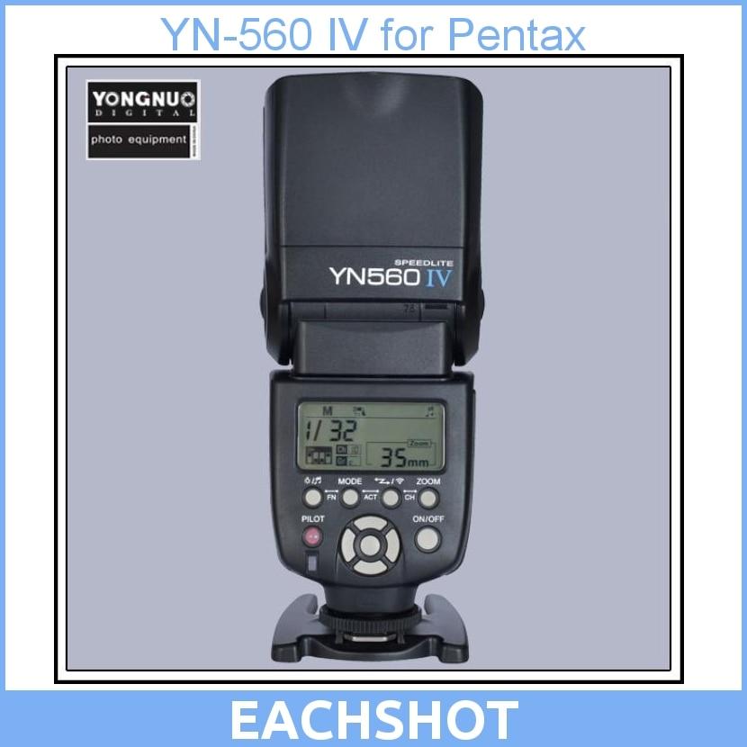 Yongnuo YN-560 IV Flash Speedlite for DSLR Cameras for Pentax K-7, K-x, K-m, K20D, K10D, K200D, K100D new arrival shanny sn600fgz p ttl gn60 1 8000s slave on camera flash speedlite for pentax k100 k100d k200d k 7 k x k r k 5 k 01