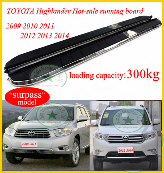 For Toyota Highlander Side Step Bar Running Board 2009 2017 Surp Model Loading 300kg Brt Genuine Iso9001 Factory In Armrests From Automobiles