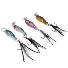 4pcs/Lot Hard Metal High Carbon Steel Fishing Lures Small Minnow Lure Bass Crank Bait Tackle Artificial Lurs Swimbaits 2.5cmBHU2