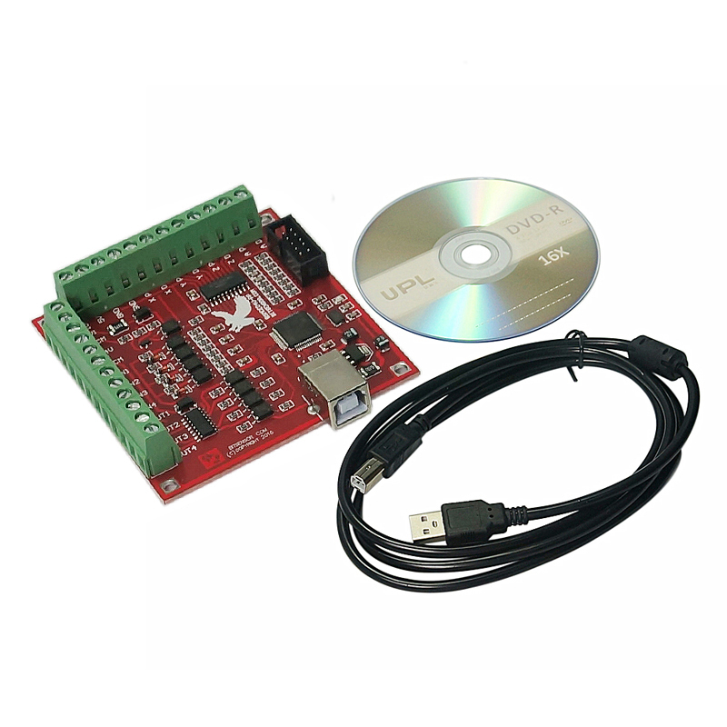 4 Axis 100KHz CNC Motion Controller Card With USB Cable Suitable for Servo/Stepping Motor 8