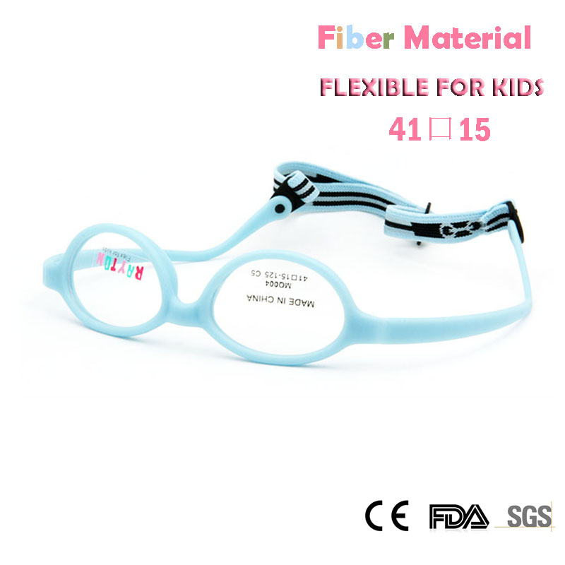 Apparel Accessories Childens Optical Glasses Frame Boys Flexible Kids Glasses With Strap Fiber Screwless Eyewear Oval Unbreakable 10pcs