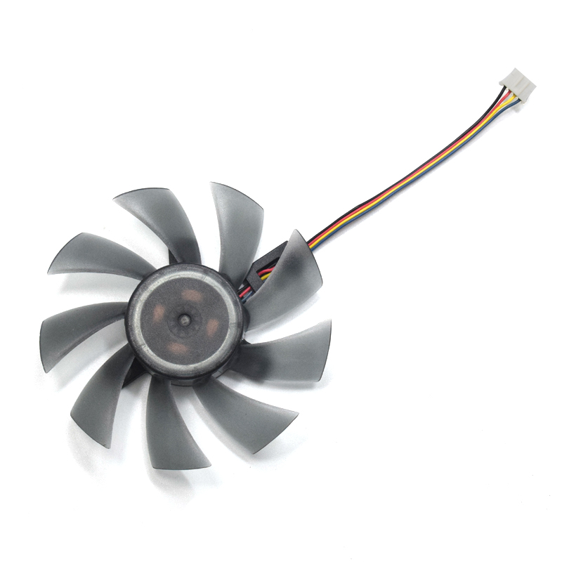 85mm T129215SU 4Pin Two Ball-Bearing For Gigabyte GTX 460 560 MSI GTX1060 3GB MSI small RX 480 580 Video Card Cooler Fan new 85mm fd9015u12s fy09015h12lpa 4pin two ball bearing cooling fan for sapphire hd 7770 7750 hd7970 graphics card cooler fan