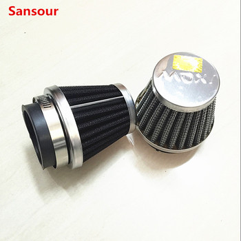 Sansour 1pcs 35mm 39mm 48mm 50mm 52mm 54mm 60mm Motorcycle Air Filter Clamp-on Air Filter Cleaner for Honda Kawasaki/Suzuki Etc image