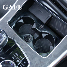 For BMW X5 G05 2019 Carbon fiber Car Accessories Interior Water Cup Holder Cover Trim
