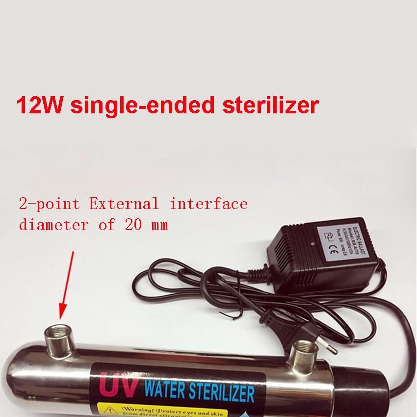 220V 12W 2-point single-ended sterilizer water sterilizer 304 stainless steel ultraviolet sewage integrated sterilizer 1GPM/0.2T basement sewage pump sewage lift pump sewage submersible pump stainless steel sewage pump