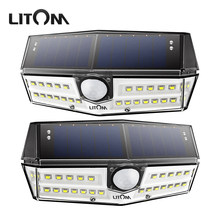 Upgraded Litom IP67 Waterproof Solar Lights 30 LED Super Bright Solar Panel Wall Lamps With Wide Lighting Range/Motion Senor(China)