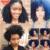 3C 3B Kinky Curly Grampo Em Extensões Do Cabelo Humano 7 pc Africano Americano brasileiro Grampo Em Extensões de Cabelo Humano Clipe Ins 12 ''-26''
