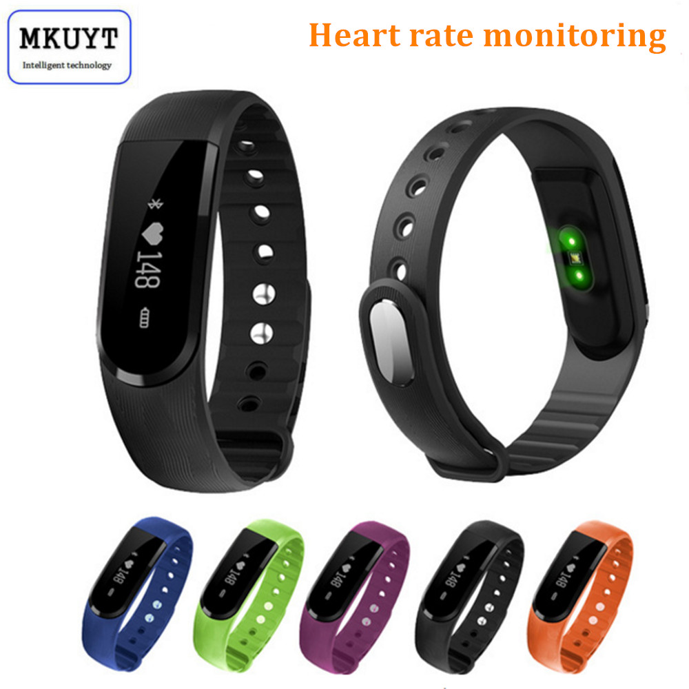 MKUYT ID101 Heart Rate Smart Bracelet Band <font><b>IP67</b></font> Sport Fitness Tracker Call/SMS Reminder Sleep Monitor Watch for all <font><b>smartphones</b></font>