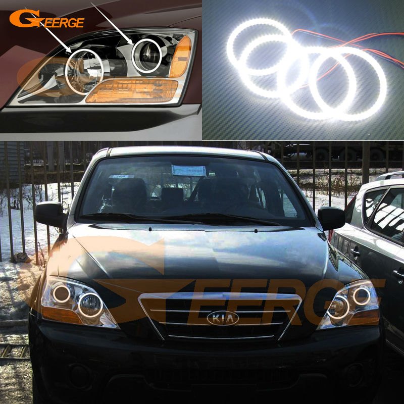 For Kia Sorento 2007 2008 2009 Excellent led angel eyes Ultra bright illumination smd led Angel Eyes kit Halo Ring