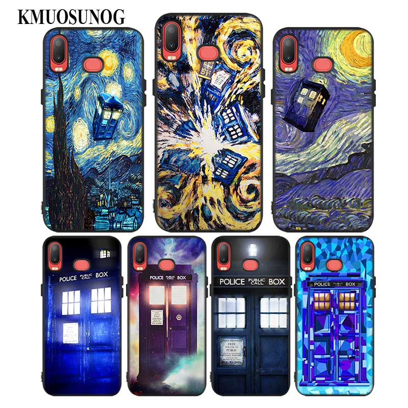 Aggressive For Samsung A6s A8s A6 A7 A8 A9 A5 A3 Star Plus 2018 2017 2016 Black Silicon Phone Case Tardis Box Doctor Who Style Activating Blood Circulation And Strengthening Sinews And Bones Fitted Cases
