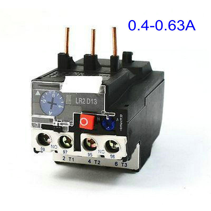 цена на JR28-25 0.63A 0.4-0.63A 3 Phase Motor Protector 1NO 1NC Electric Thermal Overload Relay LR2 D13