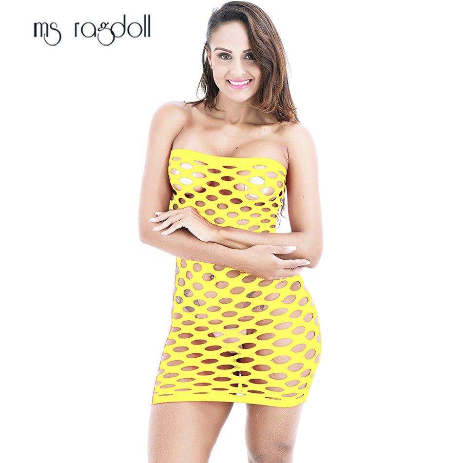 Ms Ragdoll Fishnet Dress Lenceria Sexy Lingerie прозрачное платье Mesh Babydoll Women Erotic Sex Costumes Vestido Transparente